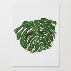 Monstera Pug Canvas Print