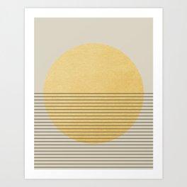 SUN MINIMAL Art Print