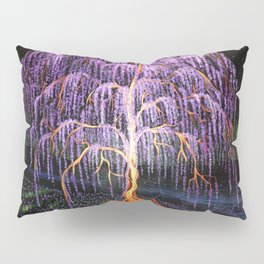 Electric Wisteria Willow Tree Pillow Sham