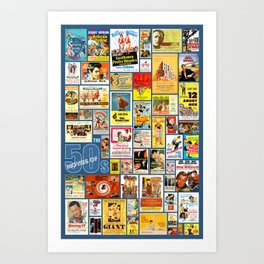 Great Movies of the 50s Art Print
