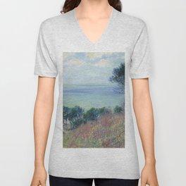 """Claude Monet """"La côte de Varengeville (The coast of Varengeville)"""" Unisex V-Neck"""