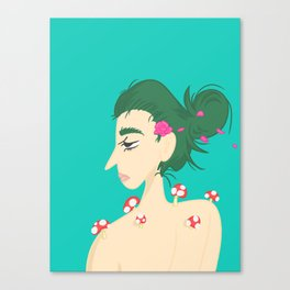 Forest girl Canvas Print