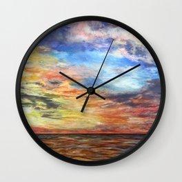 Sunset for Georgia Wall Clock