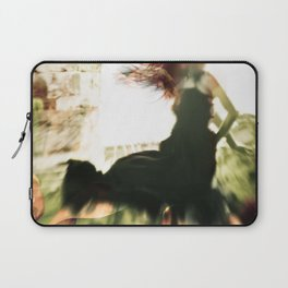 Woman and flowers Laptop Sleeve