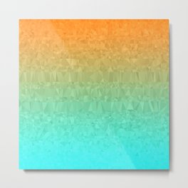 Blue and Orange Ombre - Flipped Metal Print
