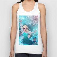 frozen elsa Tank Tops featuring Frozen Elsa by Teo Hoble
