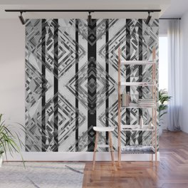Black and White Tribal Boho Wall Mural