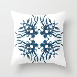 Coral Fan Throw Pillow