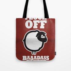 Baaadass the Sheep: Flock Off Tote Bag