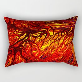 Molten Firegrass V by Chris Sparks Rectangular Pillow