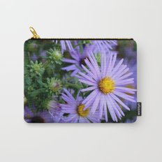 Hardy Blue Aster Flowers Carry-All Pouch