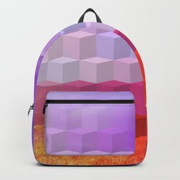 Ultra Surreal Countryside Violet Rainbow Backpack