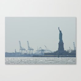 Statue of Liberty from Manhattan Canvas Print