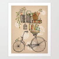 sketch Art Prints featuring Pleasant Balance by florever