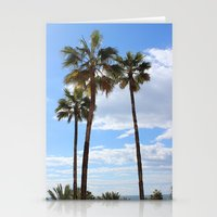 palm trees Stationery Cards featuring Palm Trees by Rebecca Bear