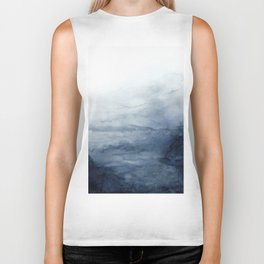 Indigo Abstract Painting | No.2 Biker Tank