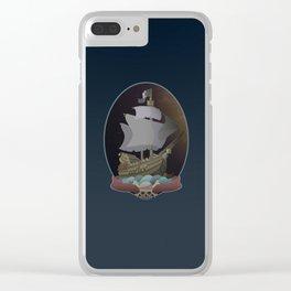 Pirate Ship Clear iPhone Case