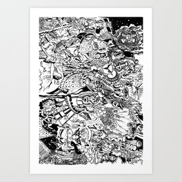 'Doodle mania' Art Print