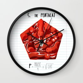 5.Pentacat Wall Clock