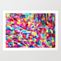 Abstract Tissue Paper Art Print