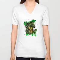 medusa V-neck T-shirts featuring Medusa by Spooky Dooky