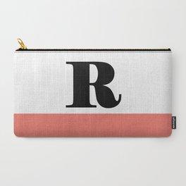 Monogram Letter R-Pantone-Peach Echo Carry-All Pouch