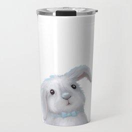 White Rabbit Boy isolated Travel Mug