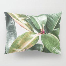 Tropical Leaves Green Lush Pattern | Lush Leaf Photography Pillow Sham