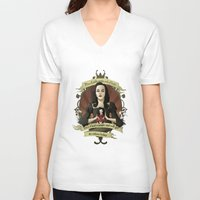 buffy the vampire slayer V-neck T-shirts featuring Drusilla - Buffy the Vampire Slayer by muin+staers