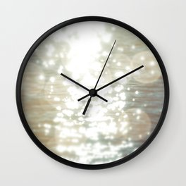Sun glitter - afterglow Wall Clock