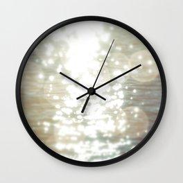 Sun glitter - afterglow Wall Clock