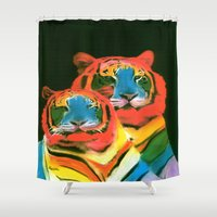 pride Shower Curtains featuring PRIDE by FOXART  - JAY PATRICK FOX