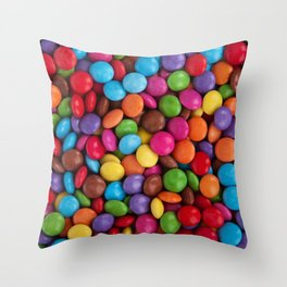 smarties pattern Throw Pillow
