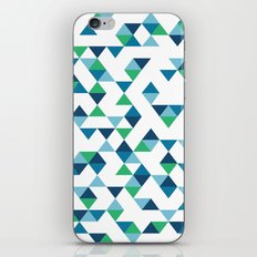 Triangles Blue and Green iPhone Skin