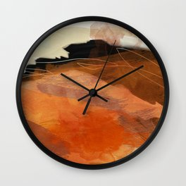 landscape in fall abstract art Wall Clock