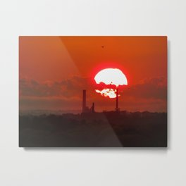 Fiery May Sunset Metal Print