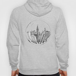 the city of New York in a suspended bowl . artwork Hoody