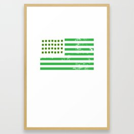 USA American Flag St. Patrick's Day Irish Framed Art Print