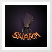 starcraft Art Prints featuring Swarm by Coolnessgod