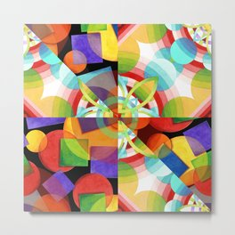 Prismatic Rainbow Metal Print