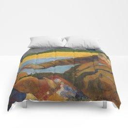 Vincent van Gogh painting sunflowers by Paul Gauguin Comforters