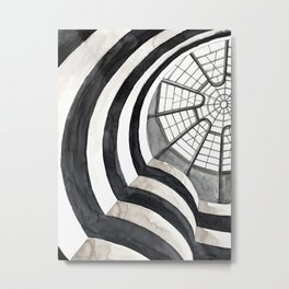 Architecture sketch of the Guggenheim Museum in New York Metal Print