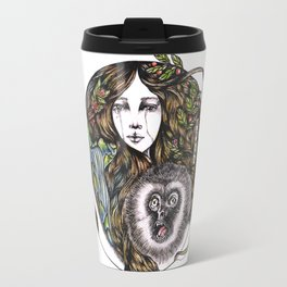 Chinese Mythic Creatures and Legends 【山海神兽·插画】   Travel Mug