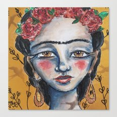 Golden Frida Canvas Print