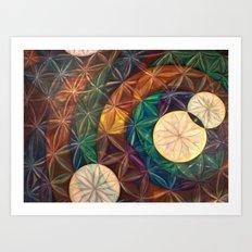 Tetrahedral Nodes HDR Art Print
