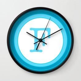 Blue letter F Wall Clock