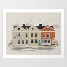 Lombard St. Portsmouth Art Print