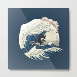 monstercat in the great wave off kanagawa Metal Print