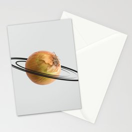 onion saturn Stationery Cards