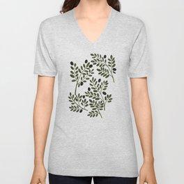 Olive Branches Unisex V-Neck